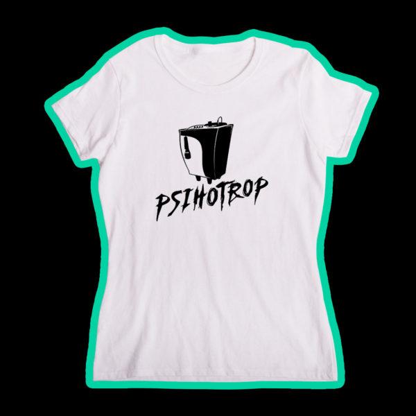 """Tricou alb, personalizat cu """"Logo"""" pentru fete"""