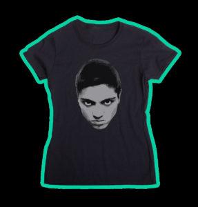 """Tricou negru, personalizat cu """"Unicitate"""" pentru fete"""