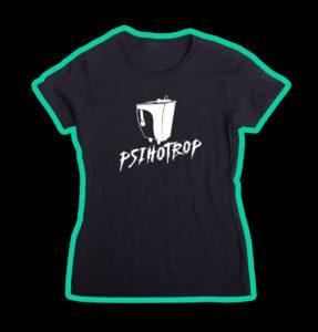 """Tricou negru, personalizat cu """"Logo"""" pentru fete"""